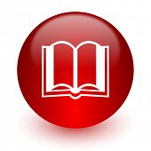 book red computer icon on white background