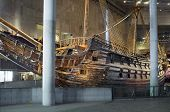 STOCKHOLM, SWEDEN - MAY 17, 2014: The Vasa Museum displays the only almost fully intact 17th century