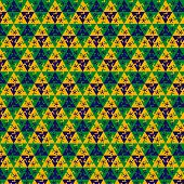 Soccer001Seamless football pattern against the colors of the Brazilian flag