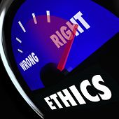 Ethics measured gauge to determine your level of good bad behavior right wrong actions