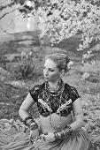 woman dancer tribal bellydance