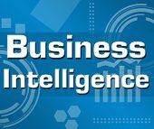 Business Intelligence Blue Background