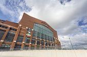 Lucas Oil Stadium In Downtown Of Indianapolis, Indiana