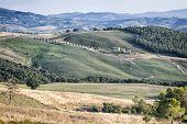 A beautiful landscape near Pienza Tuscany Italy