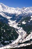 Tuxtal Valley In Austrian Alps