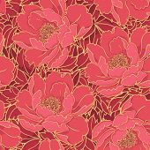 Rich red floral pattern