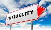 Infidelity on Red Road Sign.