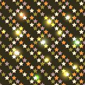 New Year's bright seamless stars