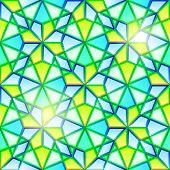 Bright seamless kaleidoscope stained glass