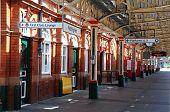 Nottingham railway station platform.