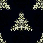 Seamless textile heraldic pattern