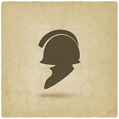 foto of sparta  - helmet icon old background  - JPG