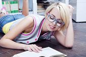 Cute Blond Student Girl