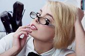 Sexy Blonde Secretary