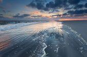 Sunrise Over North Sea Waves