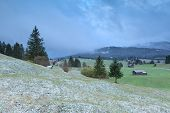 Bavarian Village In Winter