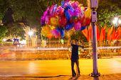 balloons in night