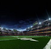 American football stadium befor mach