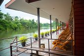 View Of The River In A Houseboat