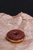 Delicious donut on the table