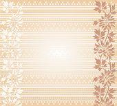 Asian cream floral henna banner