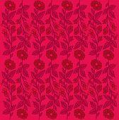 Vintage pink floral background