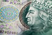 pic of zloty  - Polish paper money or banknotes - JPG