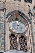 Czech Republic, Prague: The Clock On The St. Vitus Cathedral.