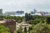 View Of The Port Of Malaga, Spain