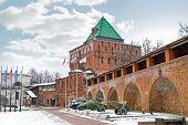 Nizhny Novgorod Kremlin. Fortress Wall