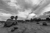 Goblin Valley State Park Black And White