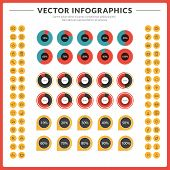Vector Infographics And Design Elements With Icon Set For Brochures, Flyers And Websites