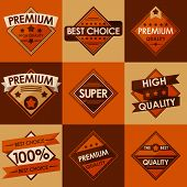 Set of retro vintage badges and labels. Flat Style