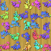 Happy Dog Image Generated Seamless Texture