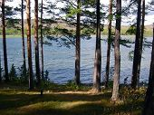 stock photo of ural mountains  - The mountain lake in the Urals summer - JPG