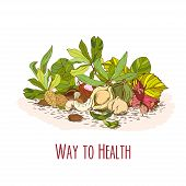 Way to health - nuts poster