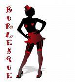 silhouette of burlesque dancer