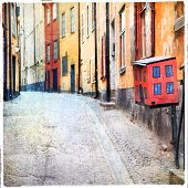 streets of old town in Stockholm