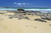 Beach At Corralejo, Fuerteventura Island