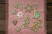 Gingerbread Cookies On Pink Place Mat