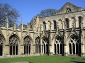 Cloister arches of Canterbury Cathedral