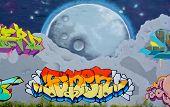Street art Montreal moon