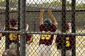 picture of little-league  - Kids playing Baseball in youth league for sport uses