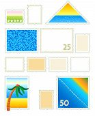 Postage stamps templates