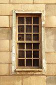 Window With A Lattice Frame