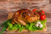 fried turkey with vegetables