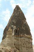 caves in spectalar rocks, Cappadocia, Turkey
