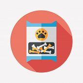 Pet Dog Food Package Flat Icon With Long Shadow,eps10
