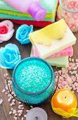 salt and soap