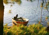 Fishing boat on shore